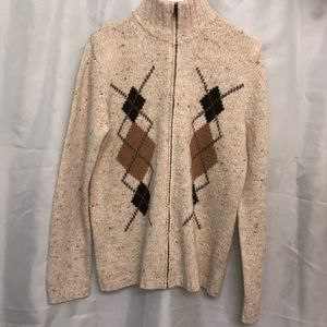 Eddie Bauer Argyle Wool Sweater